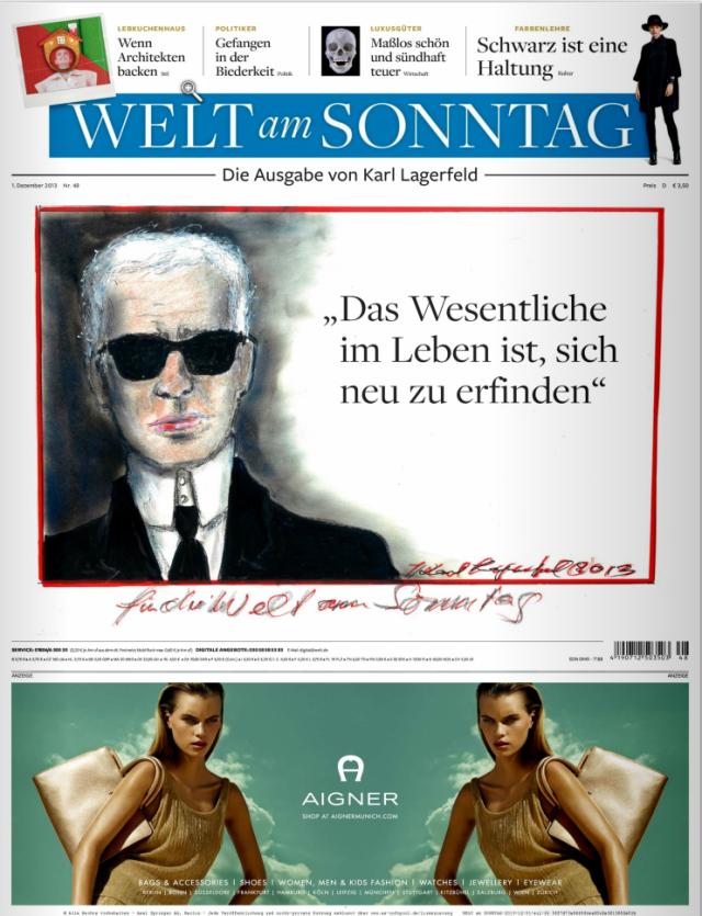 Titelseite Welt am Sonntag - 01.12.2013